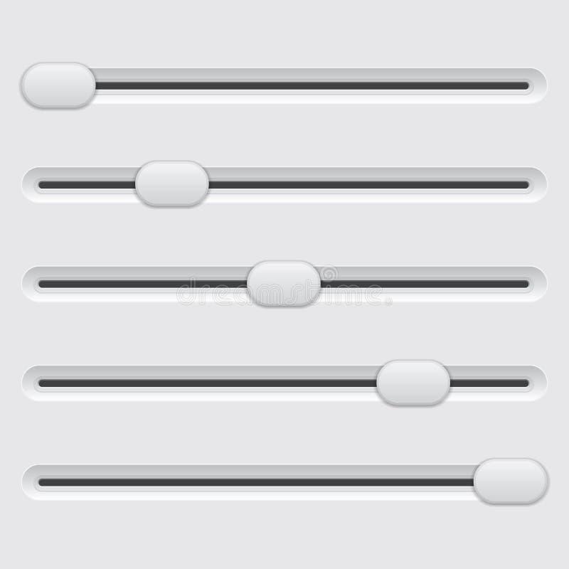 Regulador do slider ilustração stock