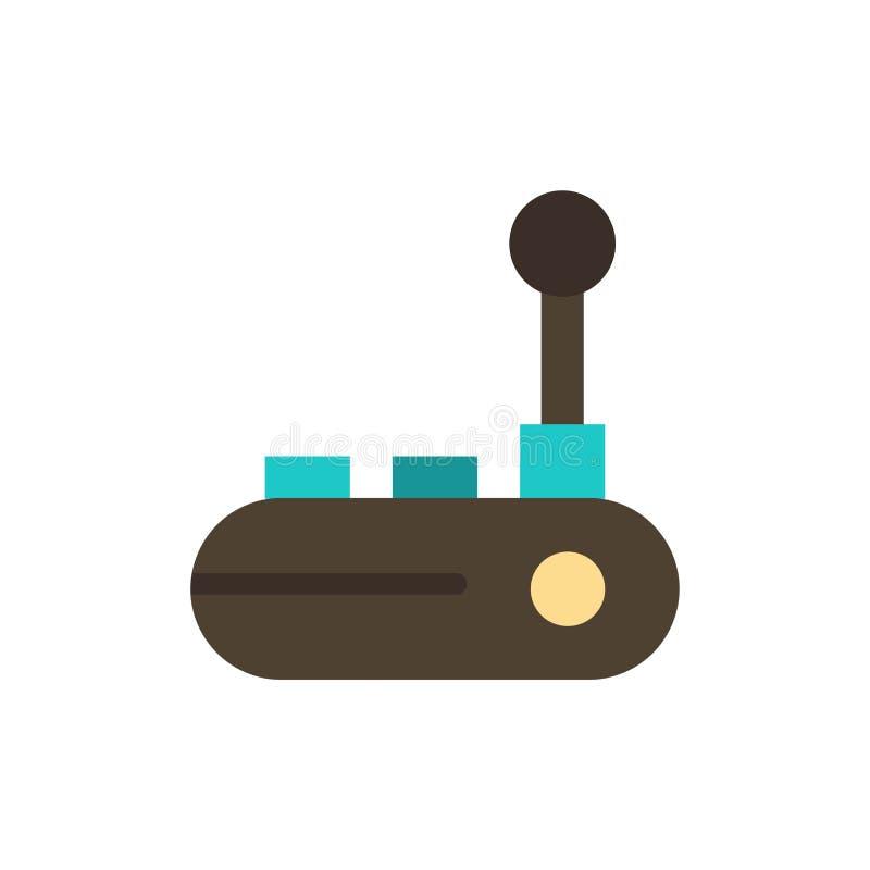 Regulador, Joy Pad, Joy Stick, icono plano del color del cojín de la alegría Plantilla de la bandera del icono del vector libre illustration
