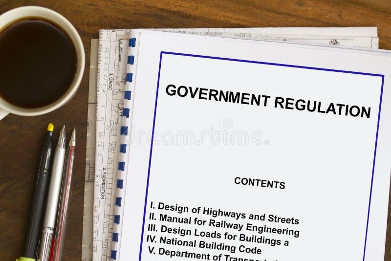 Regulamentações governamentais e código imagem de stock