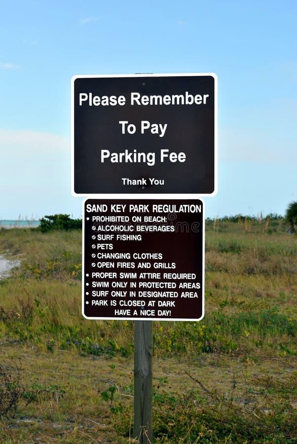 Regulamento chave do parque da areia ilustração stock