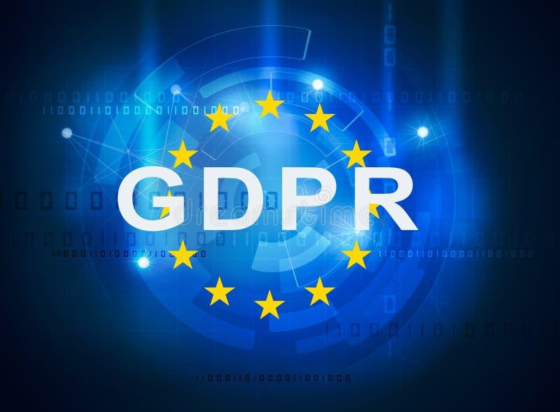 Regulamento geral da proteção de dados de GDPR ilustração do vetor