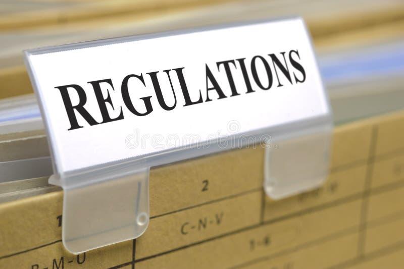 Regulamentos imagens de stock