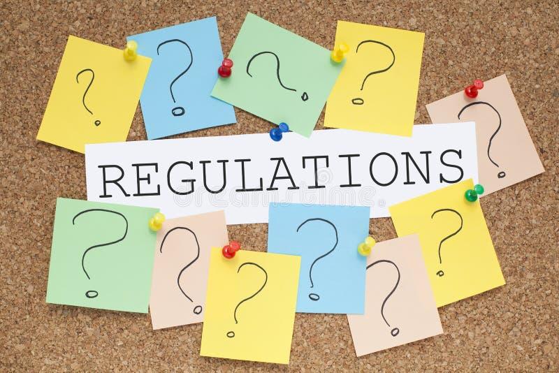 regulamentos imagem de stock