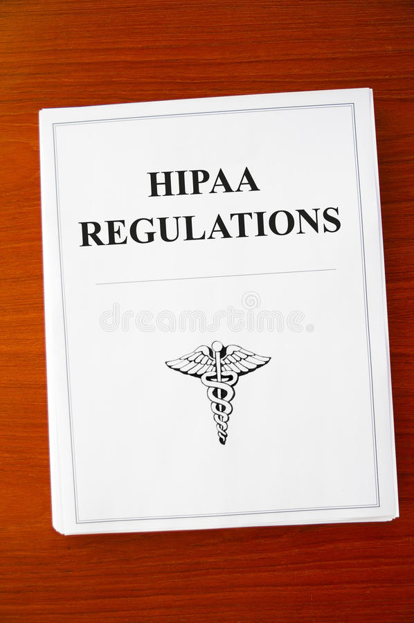Regulamentos de HIPAA fotografia de stock royalty free