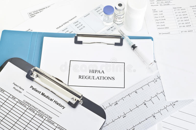 Regulamentos de HIPAA imagem de stock royalty free