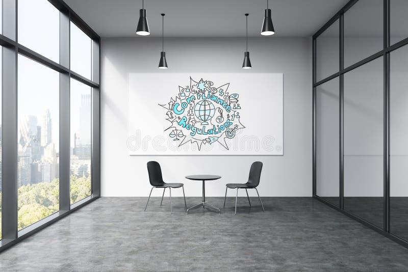 Regulamentos e conceito da conformidade ilustração do vetor