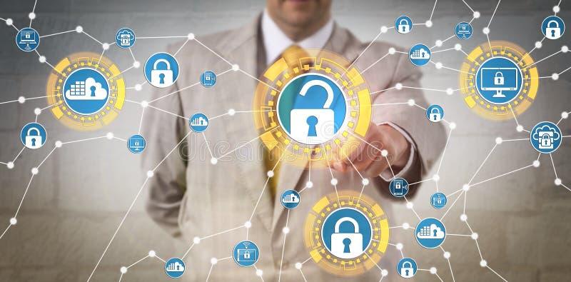 Regulamentos incorporados de Meeting Data Security do gerente imagem de stock