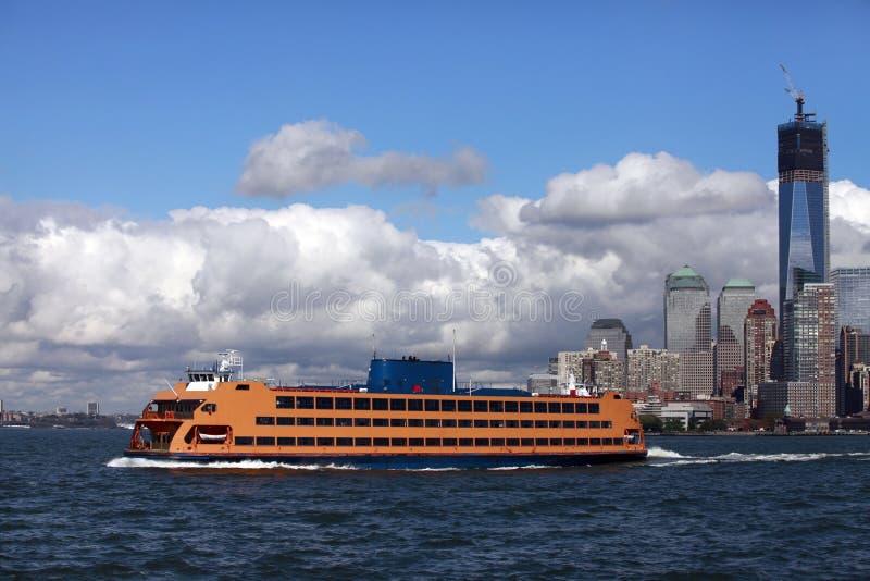 Regular ferry service between New York City royalty free stock photo