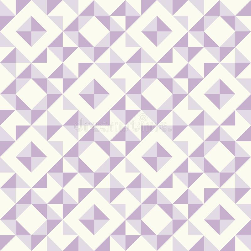 Abstract geometric pattern, patchwork quilting. Regular geometric pattern inspired by traditional patchwork duvet quilting. Only 3 colors - easy to recolor royalty free illustration