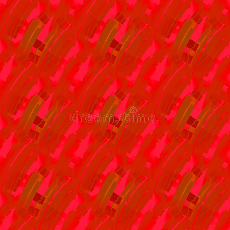 Regular intricate stripes pattern red ocher terracotta brown diagonally. Abstract geometric seamless background. Regular intricate stripes pattern red, ocher and stock illustration