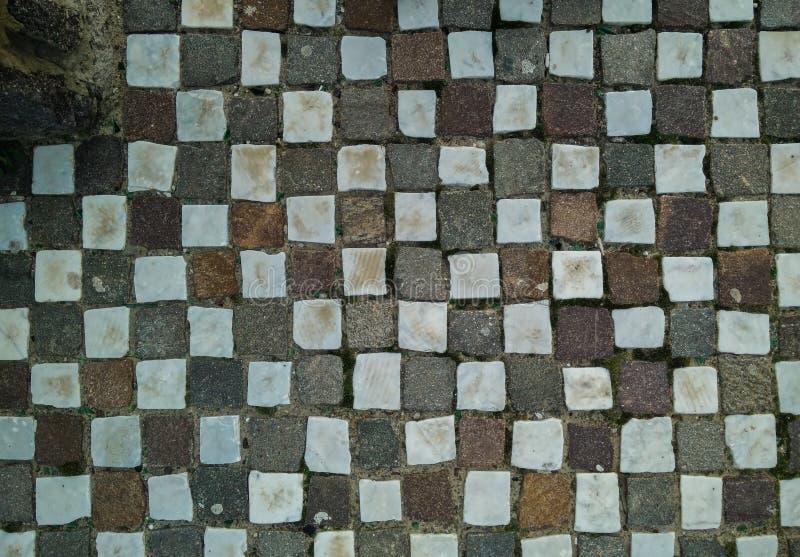 Regular paving stones stock photo