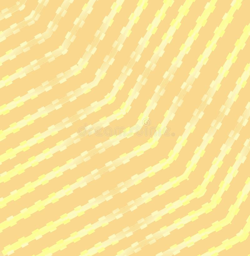 Regular stripes pattern with squares beige and yellow on peach color diagonally. Abstract geometric background. Regular stripes pattern with squares beige and vector illustration
