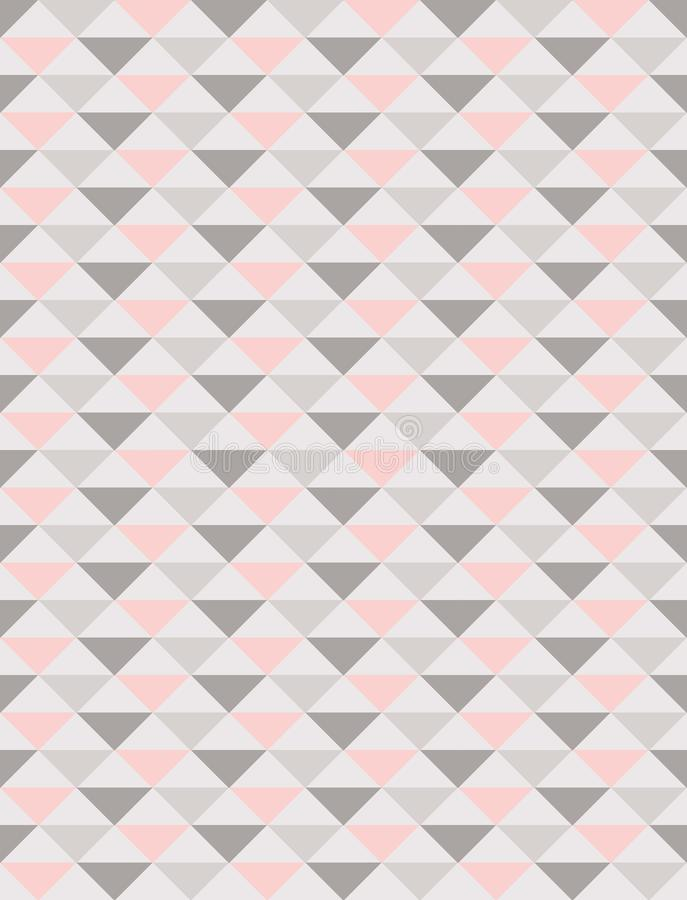 Regular triangles seamless pattern in pastel tones stock illustration
