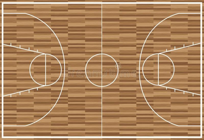 Download Regular Wooden Basketball Pitch Stock Vector - Illustration: 23111170