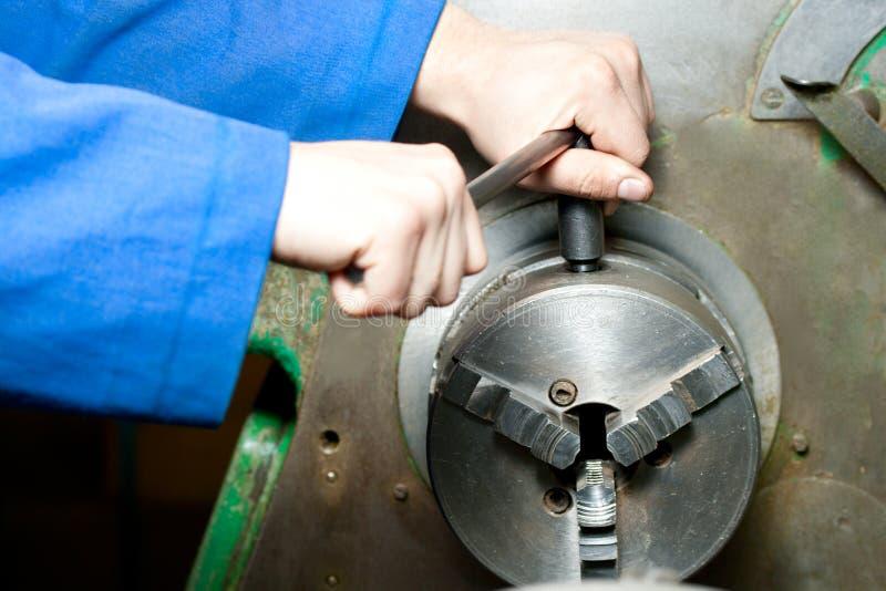 Download Regulating Of Turning Lathe Stock Image - Image: 23848373