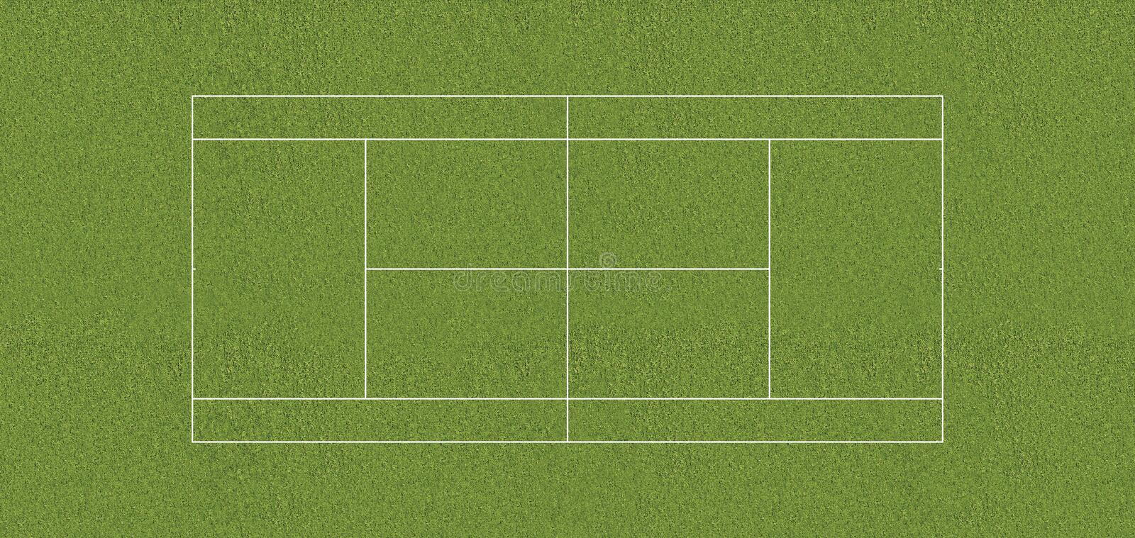 Regulation tennis court GRASS stock illustration