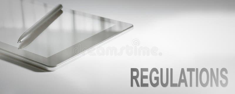 REGULATIONS Business Concept Digital Technology. stock image