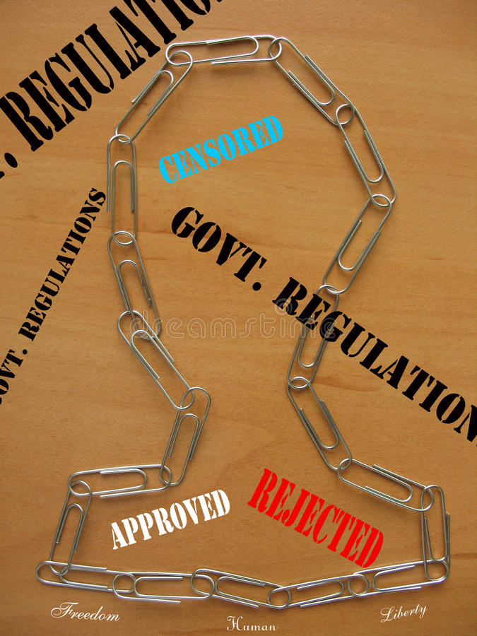 Regulations and democracy. Human and democracy in a new age royalty free illustration