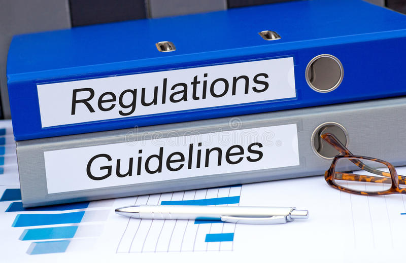 Regulations and guidelines stock photo