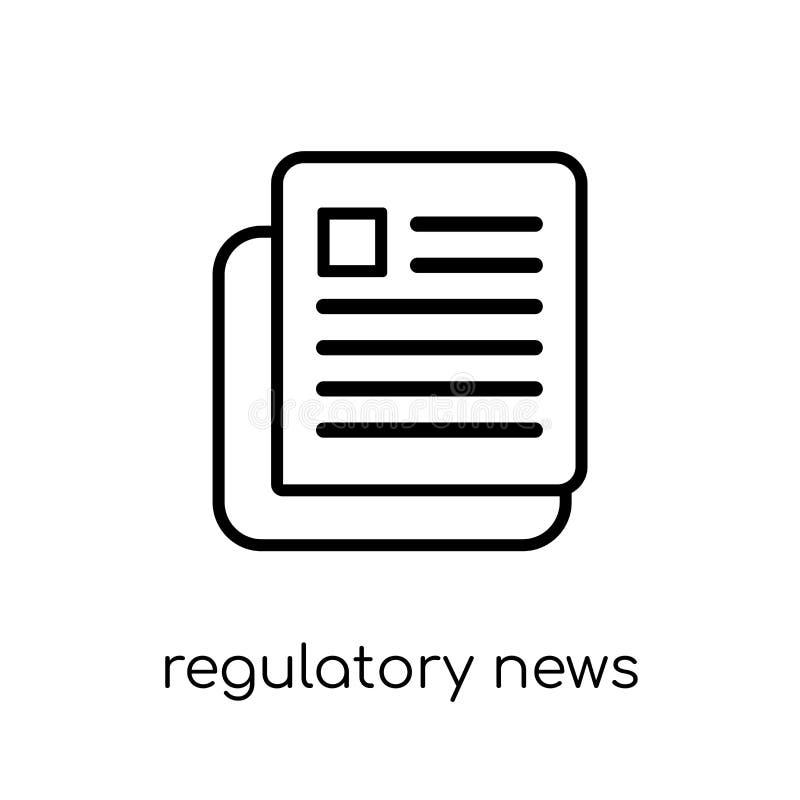 Regulatory News Service (RNS) icon. Trendy modern flat linear ve royalty free illustration
