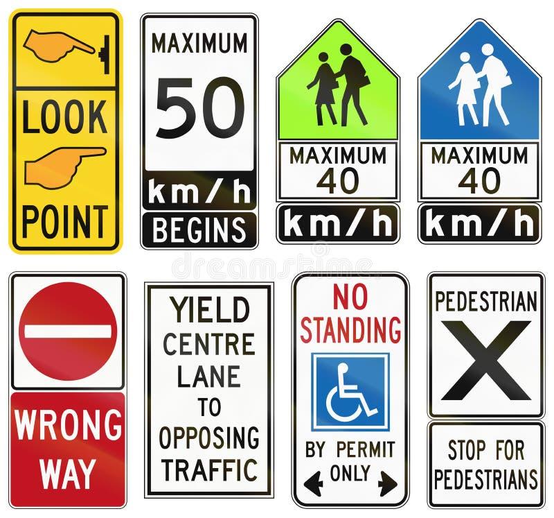 Regulatory road signs in Ontario - Canada. Collection of Regulatory road signs in Ontario - Canada royalty free illustration
