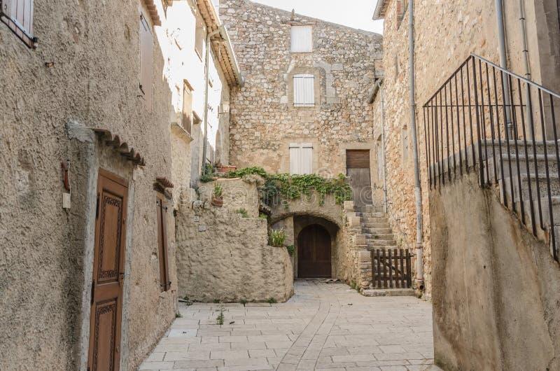 Regusse in de Provence, Frankrijk stock foto's