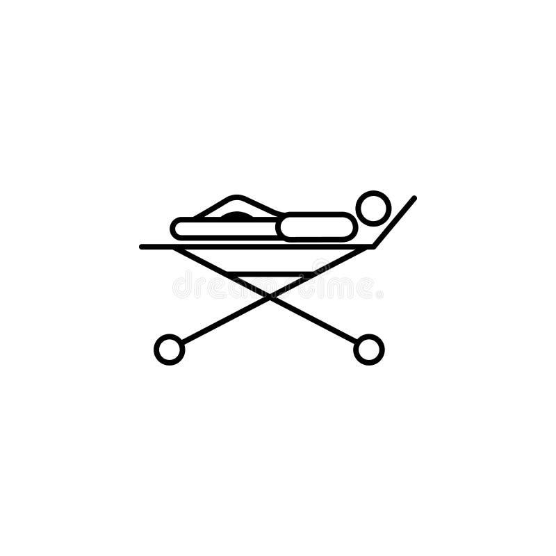 rehabilitaci ikona Element medycyny fizjoterapia nogi ikona dla mobilnych pojęcia i sieci apps Cienieje kreskową rehabilitaci iko royalty ilustracja