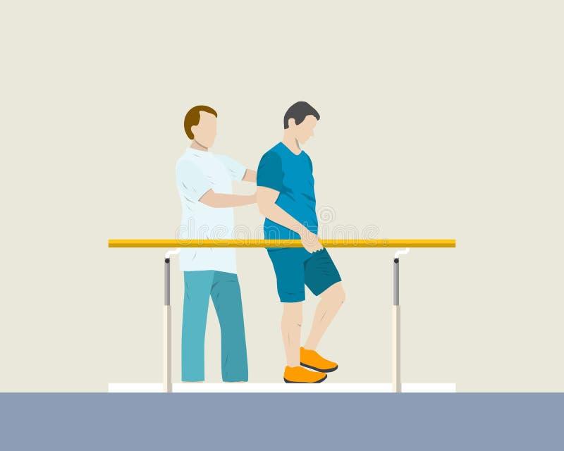 Rehabilitacja pacjenci royalty ilustracja