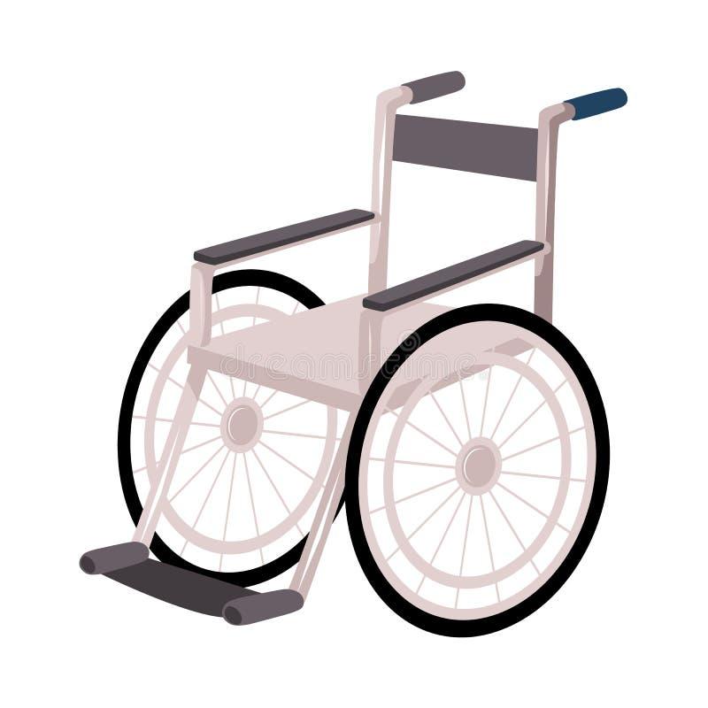 Rehabilitacja, wyzdrowienie po urazu, żadny więcej potrzeba dla wózka inwalidzkiego, szczudła ilustracja wektor