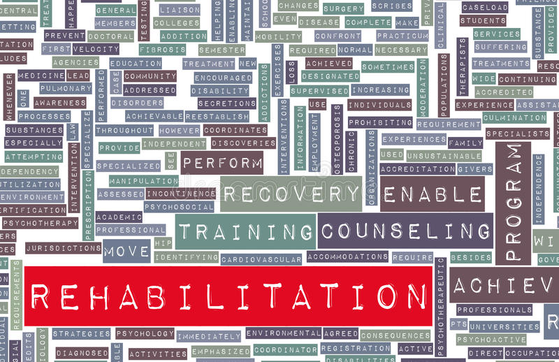 Rehabilitation vektor abbildung