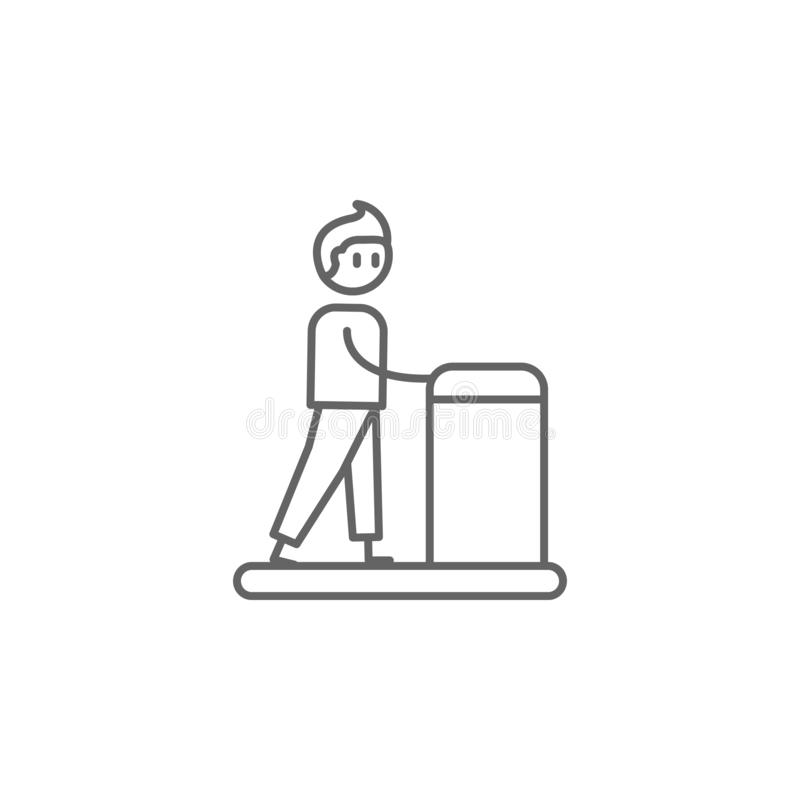 Rehabilitation, physiotherapy, man icon. Element of physiotherapy icon. Thin line icon for website design and development, app vector illustration