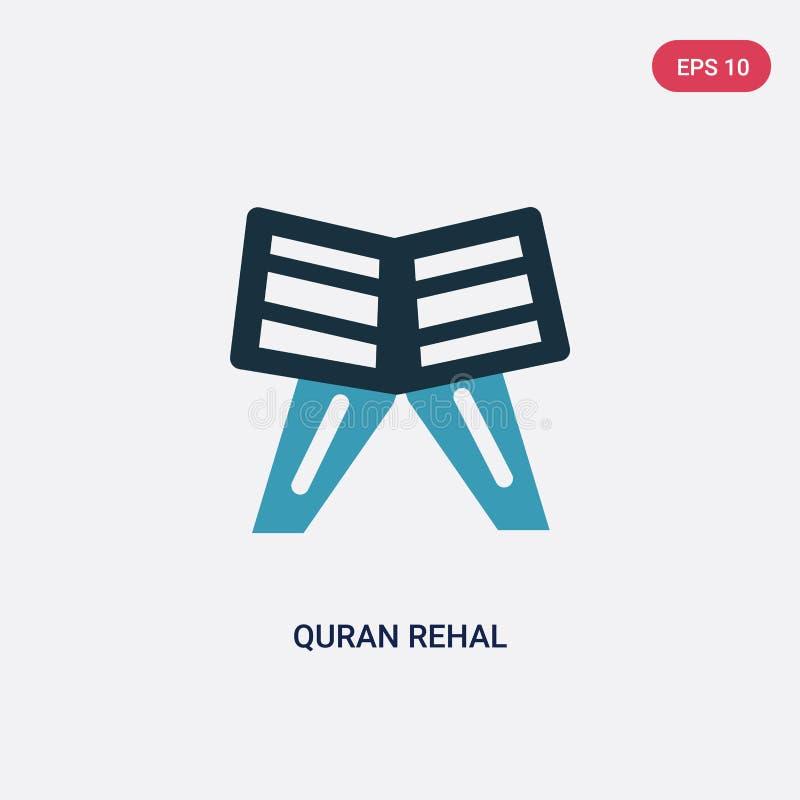 Rehal Vektorikone des zwei Farbequran vom Konzept religion-2 lokalisiertes Vektor-Zeichensymbol des blauen Quran rehal kann Gebra vektor abbildung