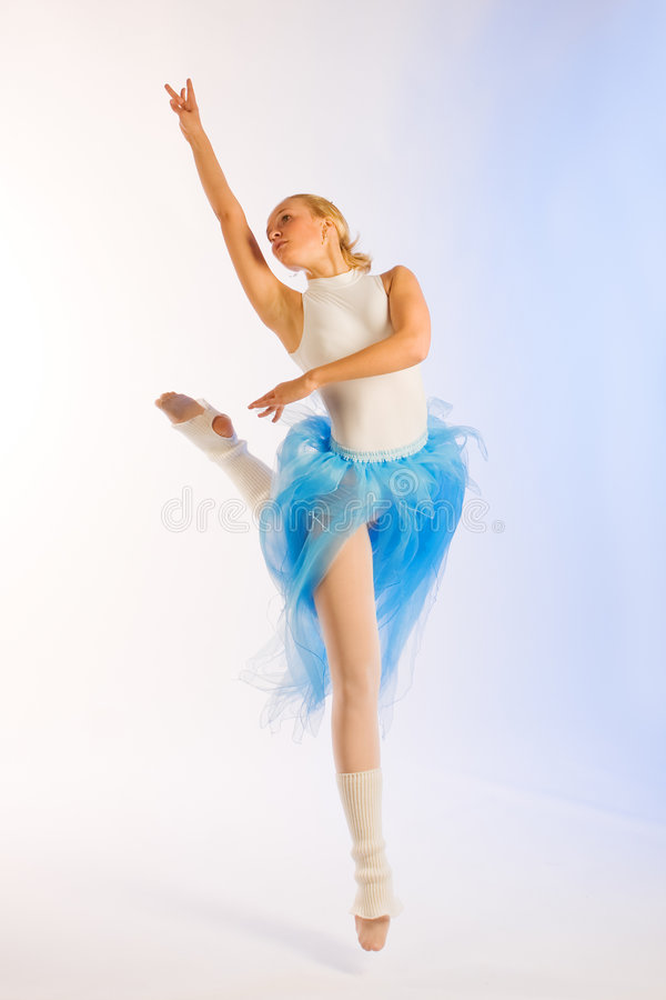 Rehearsal of the ballerina stock image