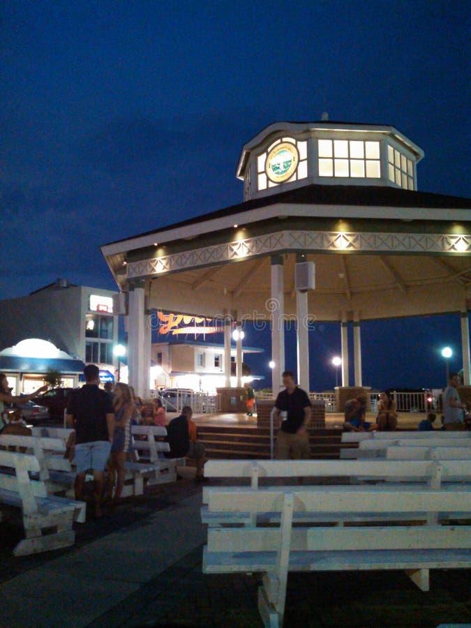 Rehoboth plaża przy nocą fotografia royalty free