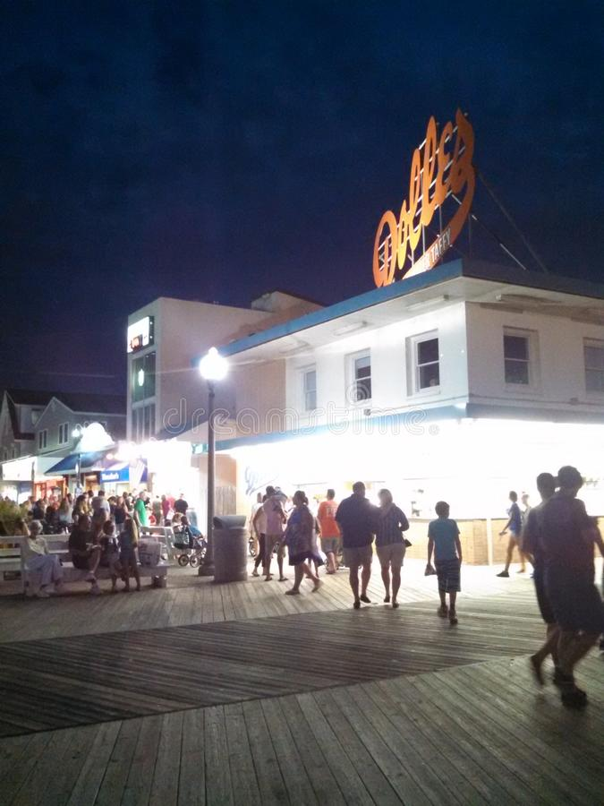 Rehoboth-Strand nachts lizenzfreie stockfotos