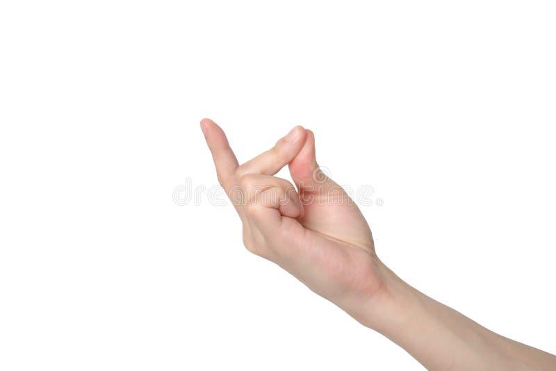 Reißende Finger lizenzfreies stockfoto