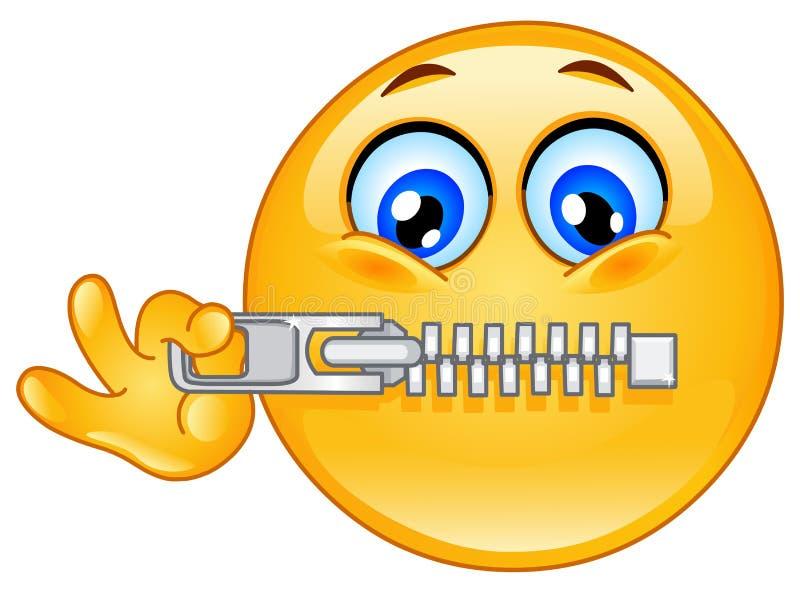 Reißverschluss Emoticon lizenzfreie abbildung