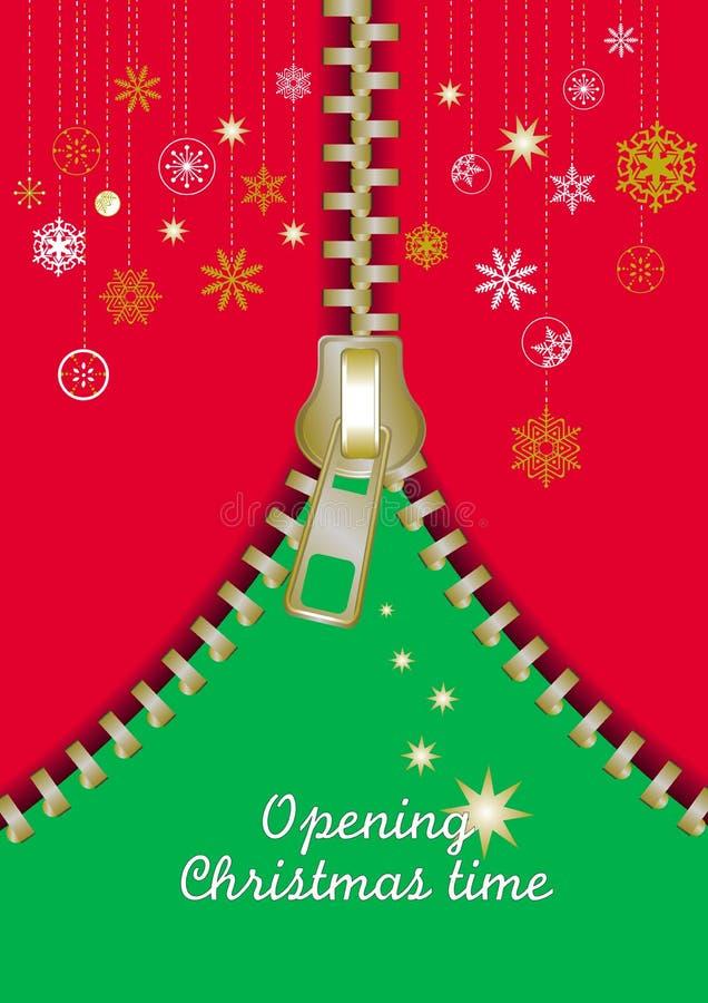 Reißverschluss-Weihnachtsauszugsbaum lizenzfreie abbildung