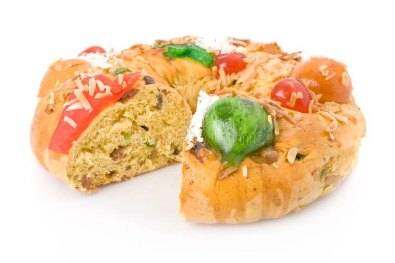 rei португалки рождества торта bolo стоковая фотография