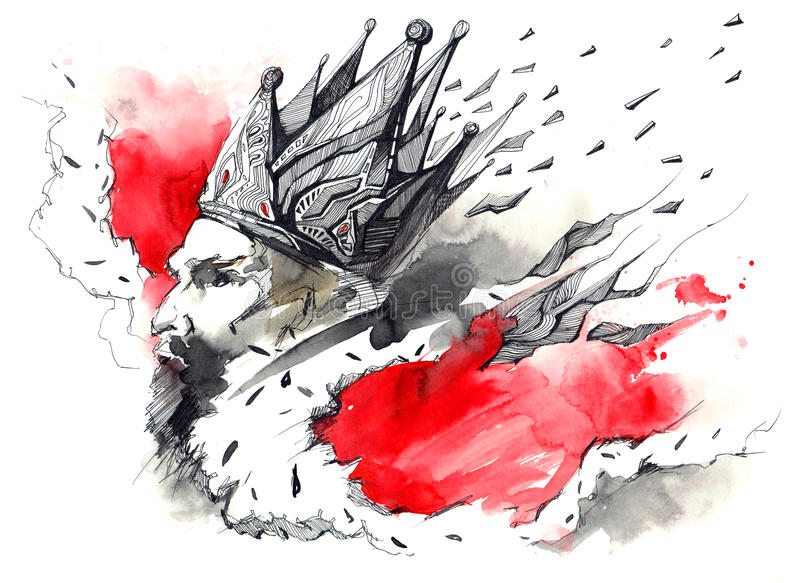Rei ilustração stock