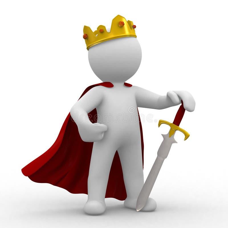 Rei ilustração royalty free
