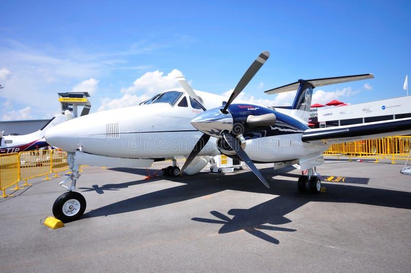 Rei Ar B200GT de Beechcraft do vendedor ambulante em Airshow fotos de stock
