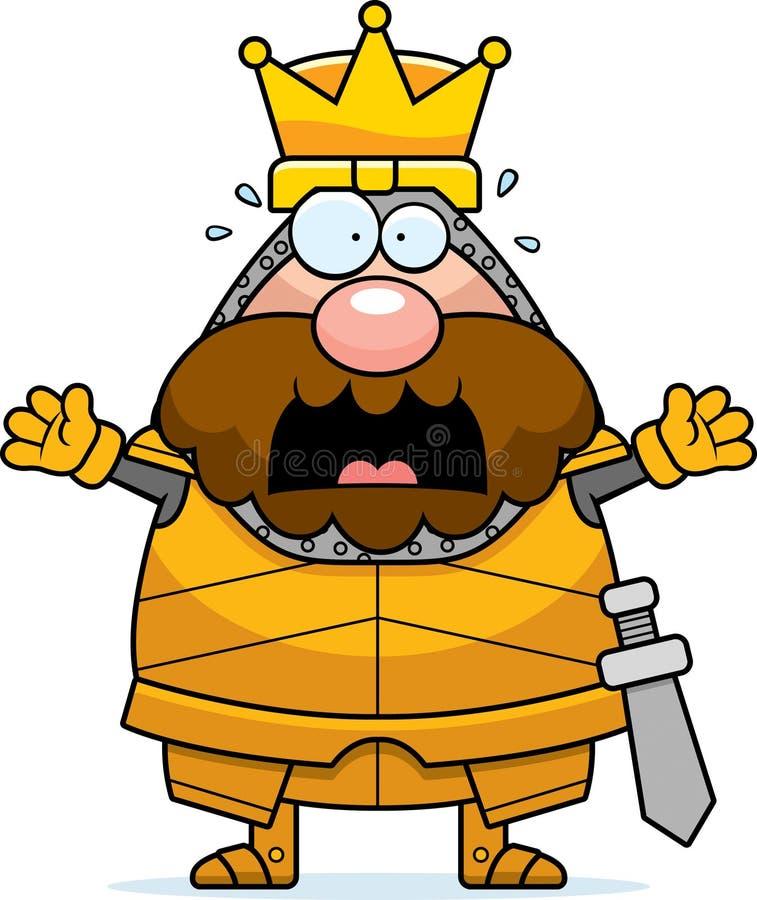 Rei assustado dos desenhos animados ilustração stock