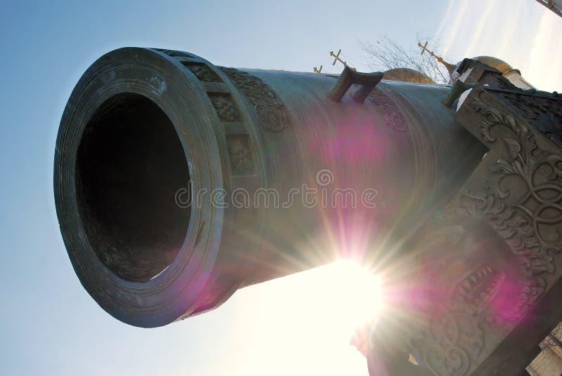 Rei Cannon do canhão do czar no Kremlin de Moscou no inverno imagem de stock royalty free