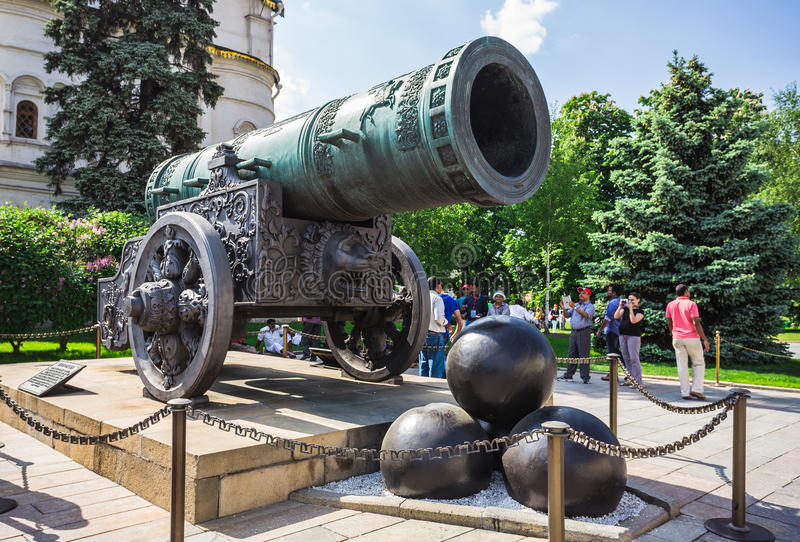 Rei Cannon no Kremlin de Moscou imagens de stock