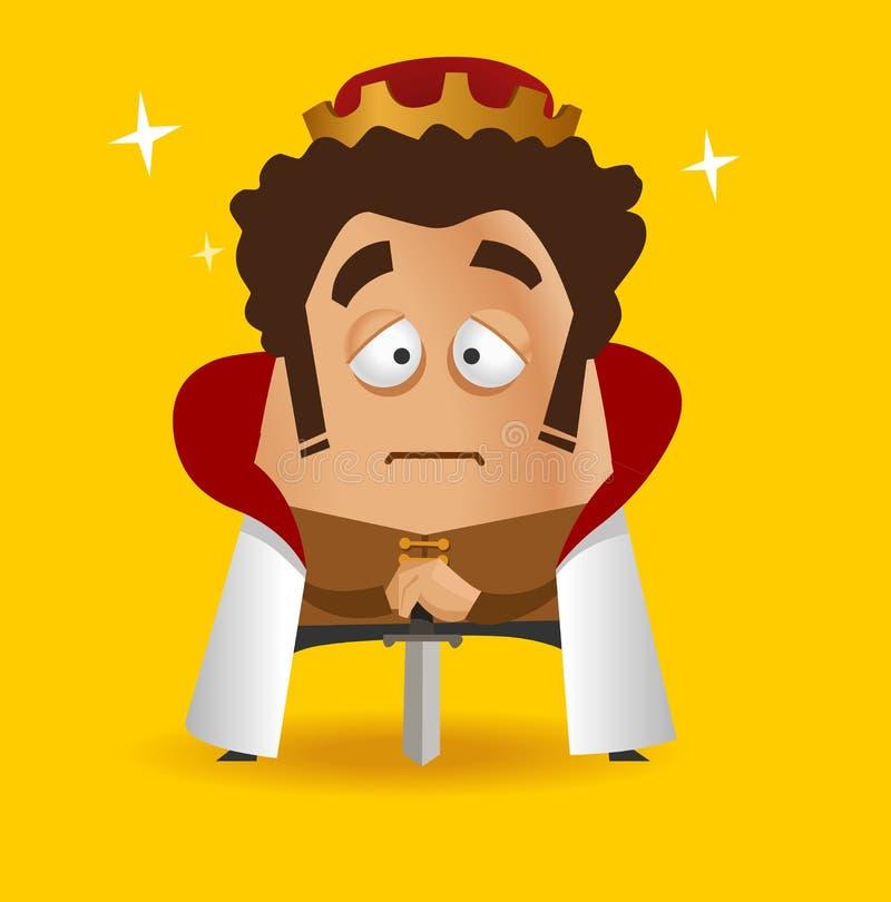Rei com sua espada ilustração do vetor