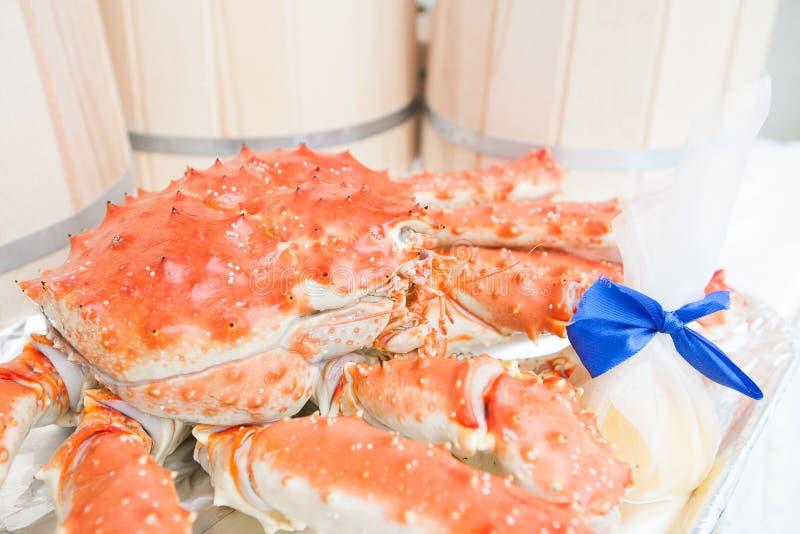 Rei cozinhado quente Crab imagens de stock royalty free
