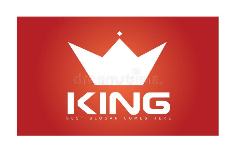 Rei Crown Simple Logo ilustração do vetor