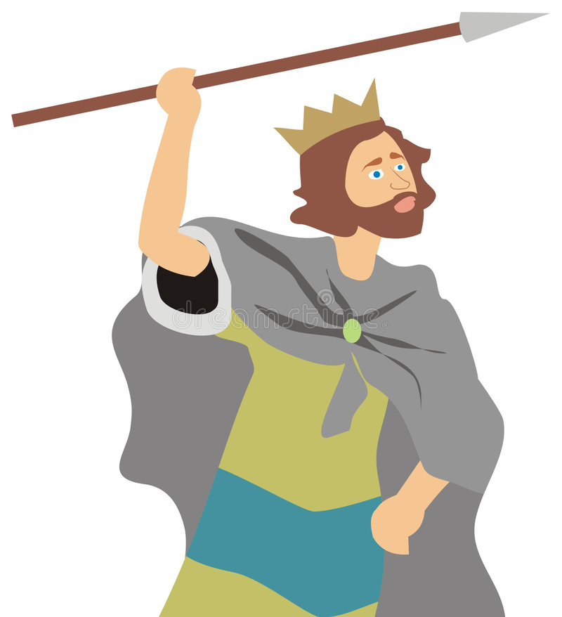 Rei david ilustração royalty free