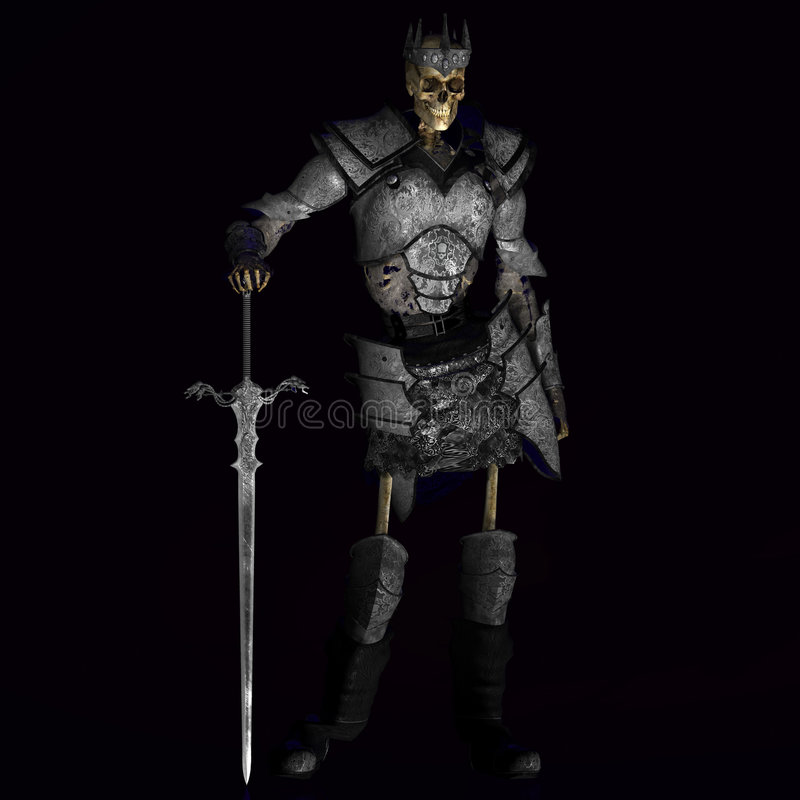 Rei de esqueleto #01 do guerreiro ilustração stock
